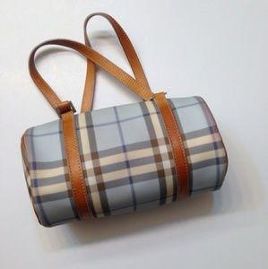 Burberry small nova check barrel handbag
